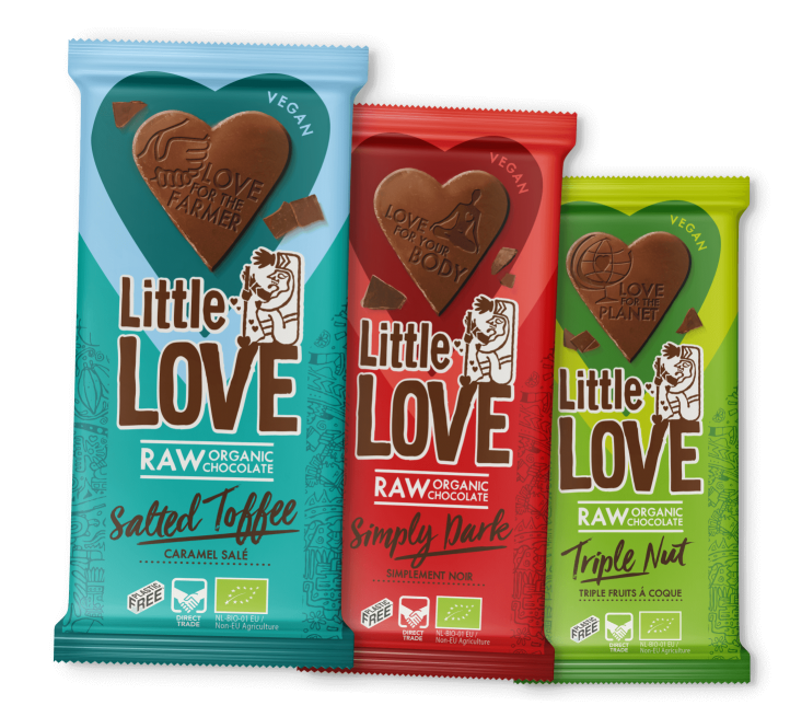 Three Little Love tablets in a row